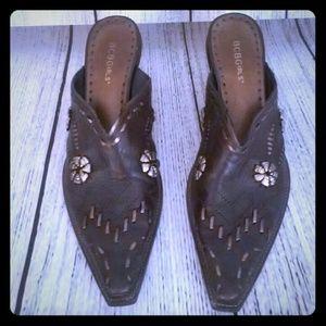 BCBG Dark Brown Ankle Cowboy Boots Size 9.5